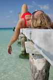 Das Leben ist ein Strand Lizenzfreies Stockfoto