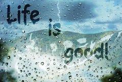 Das Leben ist gut Lizenzfreies Stockbild