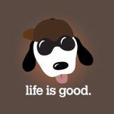 Das Leben ist gute Auslegung Stockbild