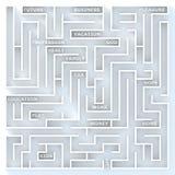 Das Leben ist Labyrinth Stockfotografie
