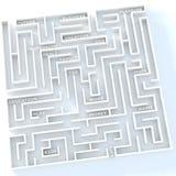 Das Leben ist Labyrinth Stockbild
