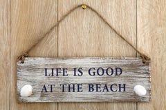 Das Leben ist am Strand gut Stockbilder