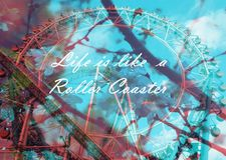 Das Leben ist wie eine Achterbahn Lizenzfreies Stockbild