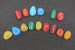 Das Leben ist wundervoll lizenzfreies stockbild