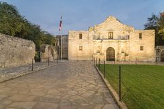 Das legendäre Alamo-Auftragfort und -museum in San Antonio Stockfotografie