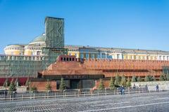 Das Lenin-Mausoleum auf dem roten Quadrat am frühen Morgen, Apri Lizenzfreies Stockfoto