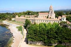 Das Lerins Abtei-Kloster stockfotos