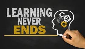 Das Lernen beendet nie Lizenzfreies Stockfoto