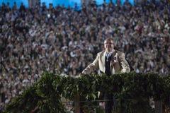 Das lettische nationale Lied-und Tanz-Festival-großartige Finale concer Stockfoto