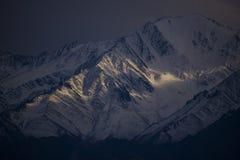Das letzte Licht bei Leh Ladakh Lizenzfreies Stockfoto