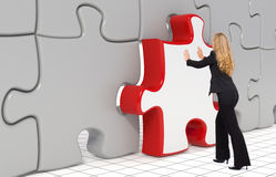 Das letzte Puzzlespielstück - Geschäftskonzept Stockfotografie