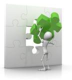 Das letzte Puzzlespielstück - Lösung Lizenzfreie Stockfotografie