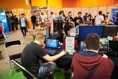 Das Leutespielen machte in Elsass-Spiel Lizenzfreie Stockfotos