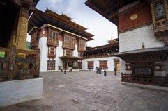 Das Lhakhang das Innere von Punakha Dzong, Bhutan, stockfotos