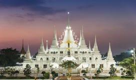 Das Lichter Pagode wat asokaram, Pagoden-Tempel Thailand Stockbilder