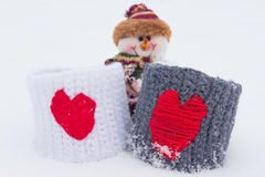 Das Liebesthema für Valentinsgruß-Tag und Weihnachten Lizenzfreie Stockbilder