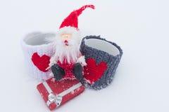Das Liebesthema für Weihnachten und Valentine Day Stockfoto