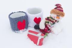 Das Liebesthema für Weihnachten und Valentinsgruß-Tag Stockfotografie