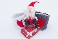 Das Liebesthema für Weihnachten und Valentinsgruß-Tag Lizenzfreie Stockfotos