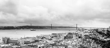 Das Lissabon-Panorama stockbilder