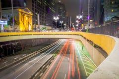 Das Loch von Paulista-Allee Lizenzfreies Stockfoto