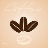 Das Logo der Kaffeebohnen Stockbild