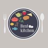 Das Logo des Restaurants Stockfotografie
