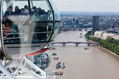 Das London-Auge Lizenzfreies Stockfoto