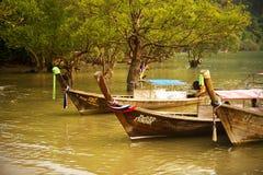Das longtail Boot Stockbild