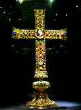 Das Lotharkreuz ist ein Ottonian-Kreuz in der Kathedrale von Aachen, Deutschland Lizenzfreies Stockbild