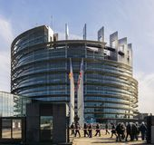 Das Louise Weiss-Gebäude, Europäisches Parlament, Straßburg lizenzfreie stockfotos