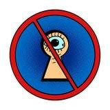 Das Lugen ist verboten lizenzfreie abbildung