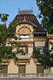Das Lumiere brothersâ Haus in Lyon (Frankreich) Lizenzfreies Stockfoto