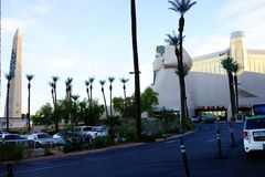 Das Luxor-Hotel u. das Kasino 4 lizenzfreies stockbild