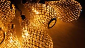 Das luzes close-up decorativo bonde extremamente filme