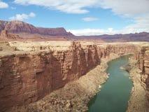 Das mächtige Colorado in der Marmorschlucht Lizenzfreie Stockbilder