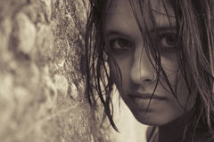 Das Mädchen Stockbild