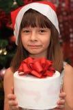 Das Mädchen in Cristmas Stockbild