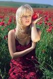 Das Mädchen in den Farben Stockfotografie