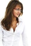 Das Mädchen in den Gläsern Lizenzfreie Stockbilder