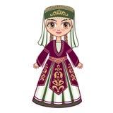 Das Mädchen in der armenischen nationalen Kleidung Stockfoto