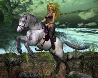 Das Mädchen der Cowboy Lizenzfreies Stockfoto