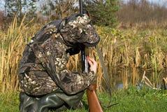 Das Mädchen der Jäger Lizenzfreie Stockbilder