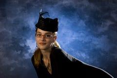 Das Mädchen in der Mütze Stockfoto