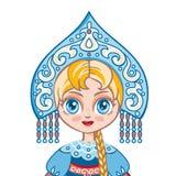 Das Mädchen in der russischen nationalen Klage Historische Kleidung Stockbilder