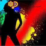 Das Mädchen - ein abstrakter Hintergrund Lizenzfreies Stockbild