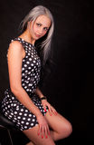 Das Mädchen in einem Kleid Lizenzfreie Stockbilder