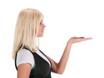 Das Mädchen in einem Profil Lizenzfreie Stockbilder