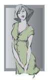 Das Mädchen im Grau stock abbildung