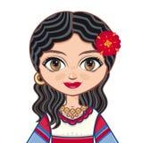 Das Mädchen im Zigeunerkleid Historische Kleidung Porträt, Avatara Lizenzfreies Stockfoto
